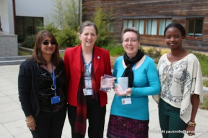 Anjona Roy (NREC),  Julie Shepherd (NHFT, Sarah Kinsella (NGH) and Teleola Cartwright (NREC)